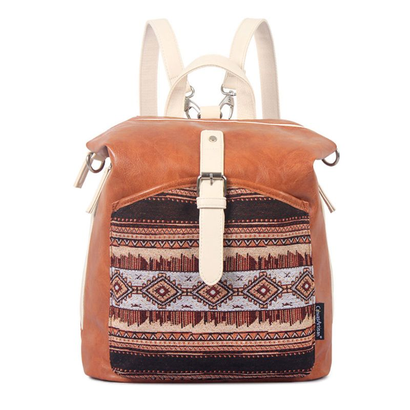 Womens PU Leather Satchel Shoulder Ethnic Style Backpack School Rucksack Bags TravelWomens PU Leather Satchel Shoulder Ethnic Style Backpack School Rucksack Bags Travel