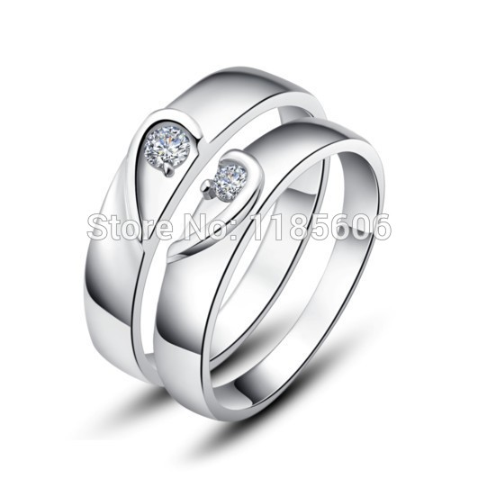 39e471f503 925 sterling silver ring Hearttex couple ring Korean mens & womens ring  holiday gifts Can be lettering