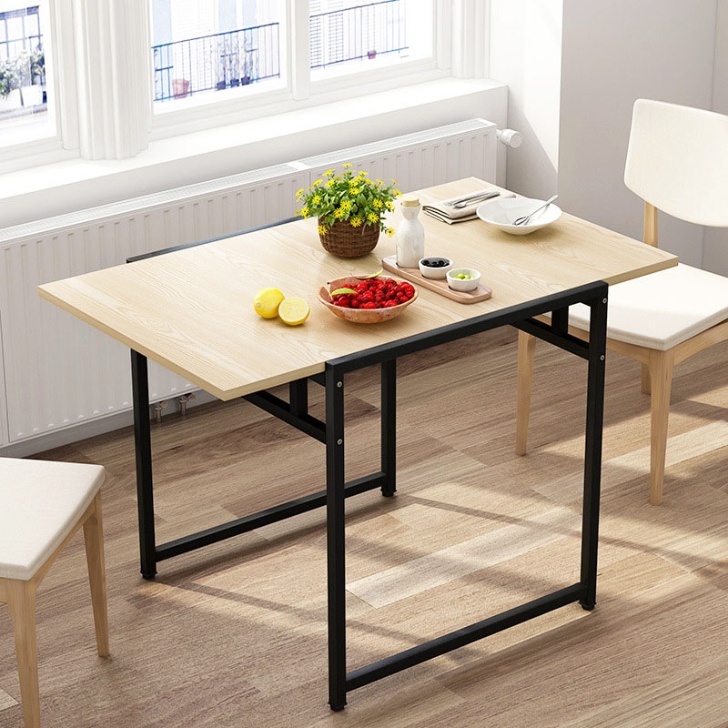 US $98.3 13% OFF|Outdoor Simple Folding Table Small Apartment Household  Living Room Foldable Dining Table Study Desk Home Furniture-in Dining  Tables ...