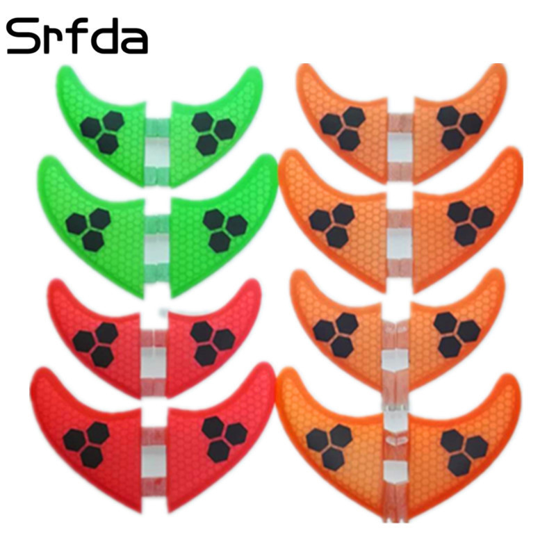 Sports & Entertainment Water Sports 4pcs/lot High Quality Surfboard Fcs Fins With Fiberglass Honey Comb Material For Surfing Fin Gx G3 G5 G7 S L Size Quad Fins Excellent Quality