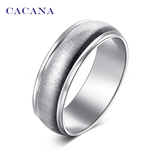 CACANA Titanium Stainless Steel Rings For Women Bright Ceramics Jewelry Wholesal