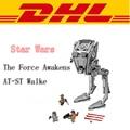 2017 LEPIN 05052 1068 Unids Star Wars The Force Despierta AT-ST Walke Modelo Kit de Construcción de Bloques de Ladrillos Compatibles Juguetes de Los Niños 75153