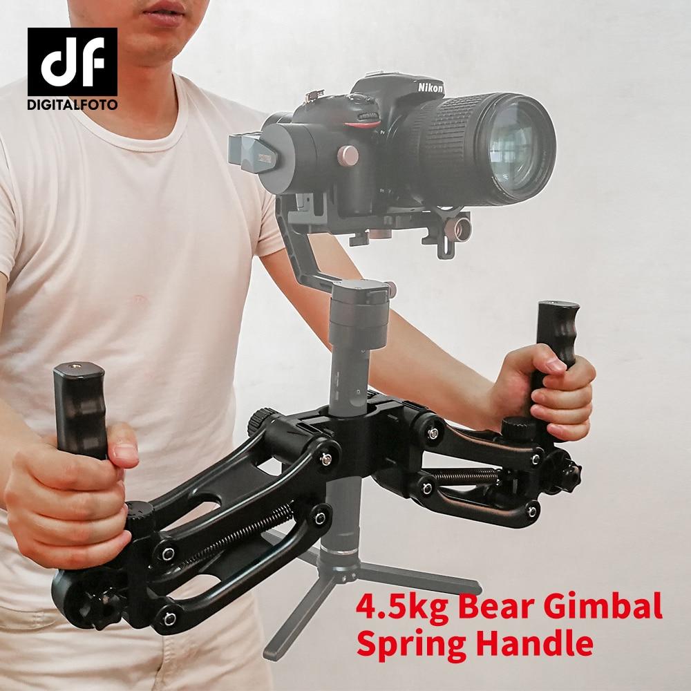DF DIGITALFOTO DH04 4.5KG load 3 axis Gimbal Handlebars Spring Dual Handle Grip for Zhiyun Crane 2 Crane Plus Feiyu DJI RONIN S