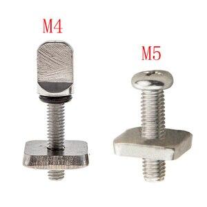 3sets M4 M5 Stainless Surf Fin Screws Plates Surfboard Longboard Screw Channel Sliding Fin Box Plate Smart Screw
