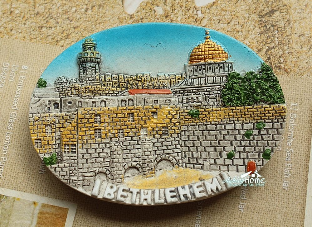 Palestine Bethlehem Tourist Travel Souvenir 3D Resin Fridge Magnet Craft GIFT IDEA