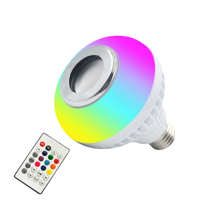 Bluetooth Music Smart Light Bulb Color Changing RGB LED Light Bulb for Home Store Stage