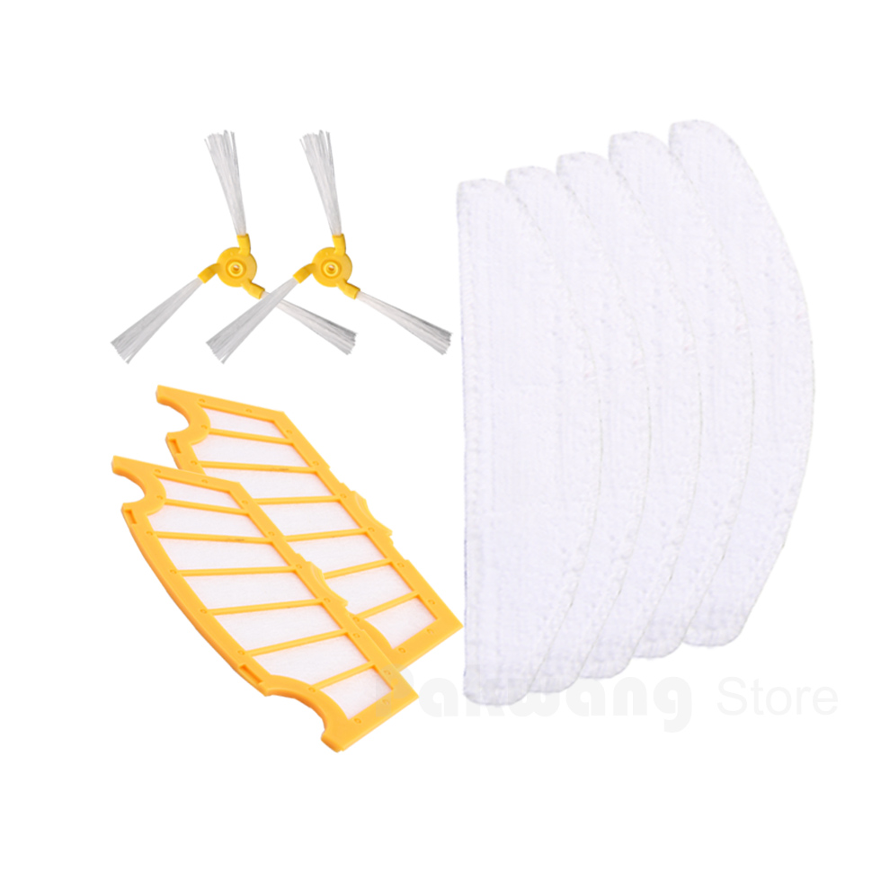 Original A325 Side brush 2 pcs  Filter 2 pcs and Mop 5 pcs robot vacuum cleaner parts supply from factory vacuum cleaner parts for a325 side brush hair brush mop filter