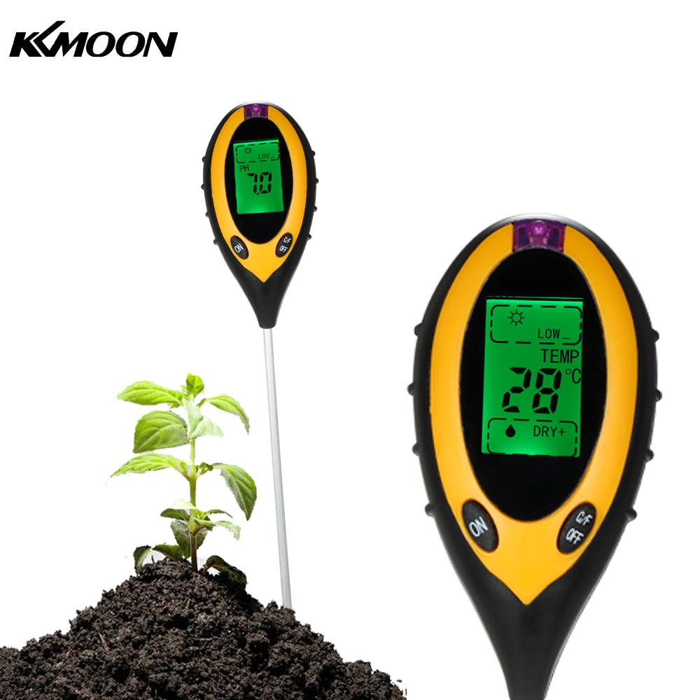 все цены на 4 In 1 Digital Soil Meter PH Moisture Soil Meters Detector MultiTool Sunlight/Moisture/PH value/Temperature Instrument For Plant онлайн