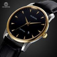 Moda Casual Para Hombre Relojes de Marca de Lujo de Cuarzo Reloj de Los Hombres de Negocios de Cuero OCHSTIN Macho Regalo Reloj Relogios