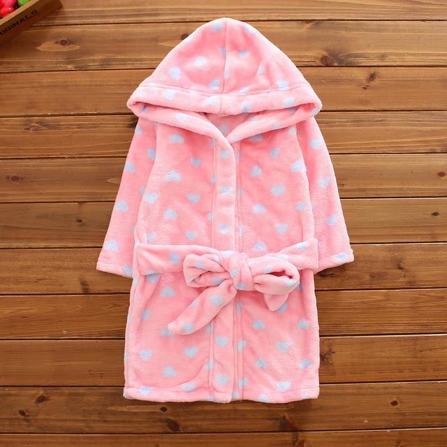 Kids Bathrobe Boys Girls Fleece Pajama Star Children\'s Bathrobe ...