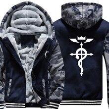 Nieuwe Collectie Winter Warm Fullmetal Alchemist Hoodies Sweatshirts Anime Hooded Capuchon Coat Thicken Zipper Jasje
