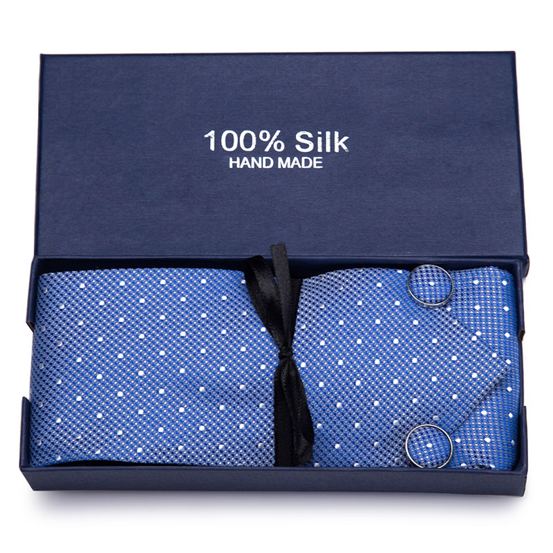 New Plaid Tie For Men Extra Long Size 145cm 7 5cm Necktie Blue Paisley Silk Jacquard Woven Neck Tie Suit Wedding Party gift box in Men 39 s Ties amp Handkerchiefs from Apparel Accessories