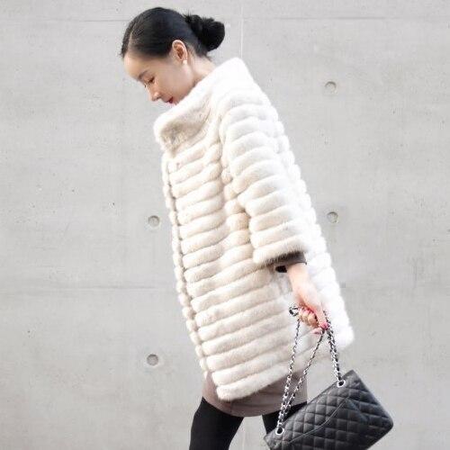 Manteau femmes en fourrure de vison véritable ARLENESAIN lux 027