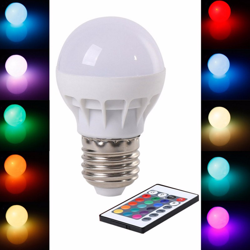 Luzes da Noite mudar lâmpada com controle remoto Led Bulb Tipo : Bubble Ball Bulb