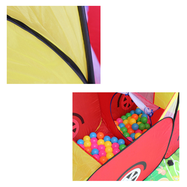 New Kids Game Play Yard Kid Safe Portable Playpen Toy Tent Huge Car Design House Hut Ball Pool Ball Outdoor Indoor