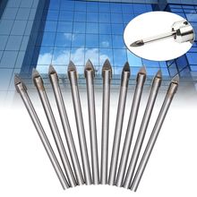 цена на 10pcs/set High Hardness 6mm Tip Ceramic Tile Glass Drill Bit Head Opener Tungsten Carbide Drill Bit Power Tool Accessories