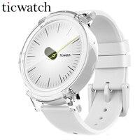 Оригинальный Ticwatch E Ice Смарт-часы Android Wear 2,0 MT2601 Dual Core Bluetooth 4,1 WI-FI gps Smartwatch телефон Heart Rate монитор