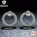 925-Sterling-Silver Earrings Clear CZ Forever Stud Earrings Female Women Compatible with Sterling Silver Fine Jewelry Brincos