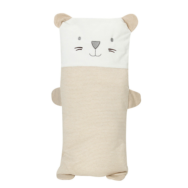 Baby Pillow 1 Piece Comfortable Cotton Nursing Pillow Cute Animal Cartoon Silk Wadding Filler Washable Pillow for Toddler Baby