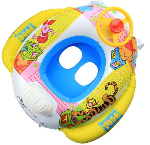 Encantador dos desenhos animados Animais voltas de natação anel Inflável natação com speaker Crianças Nadam Banho Tubo de Anel de natação sentado