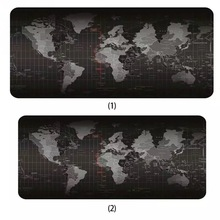 Hot oversized world map mouse pad game non-slip natural rubber mat with lock