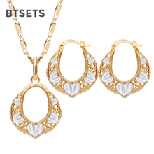 BTSETS Turkish Bridal Jewelry Sets For Women Round African B