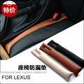 O envio gratuito de fibra de assento de carro de couro gap spacer bar para lexus lx570 rx270 rx350 gx460 f esporte à prova de fugas