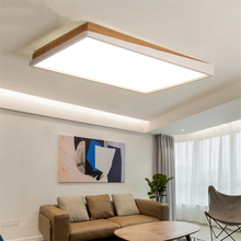 Modren Lights LED Iron Ceiling Lamp Wooden Bedroom Living Room Office Study Hotel Deco Fixtures Luminaire Lustres