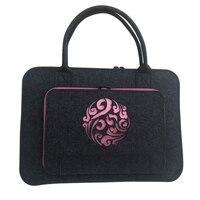Wool Felt Pink Coulds Laptop Sleeve Bag 11 12 13 14 15 6 17 Inch Laptop