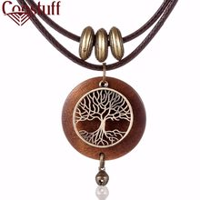 2018 Woman chokers Necklaces vintage Jewelry Tree Design Wooden pendant Wholesale Long necklace for women collares mujer kolye(China)