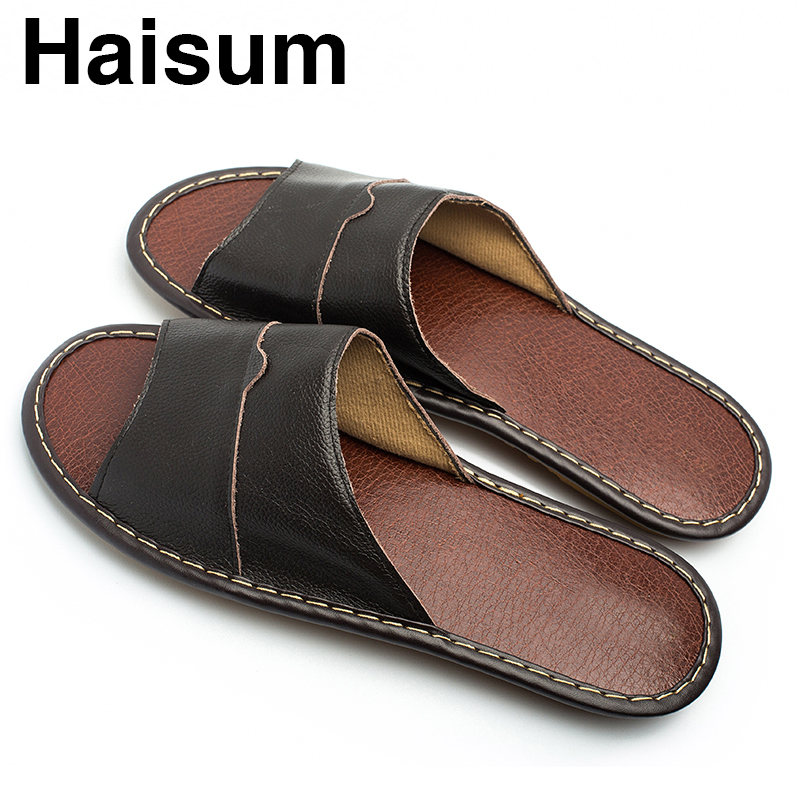 Overseas warehouse---Men's Slippers Spring And Summer genuine Leather - Men's Shoes - Photo 4