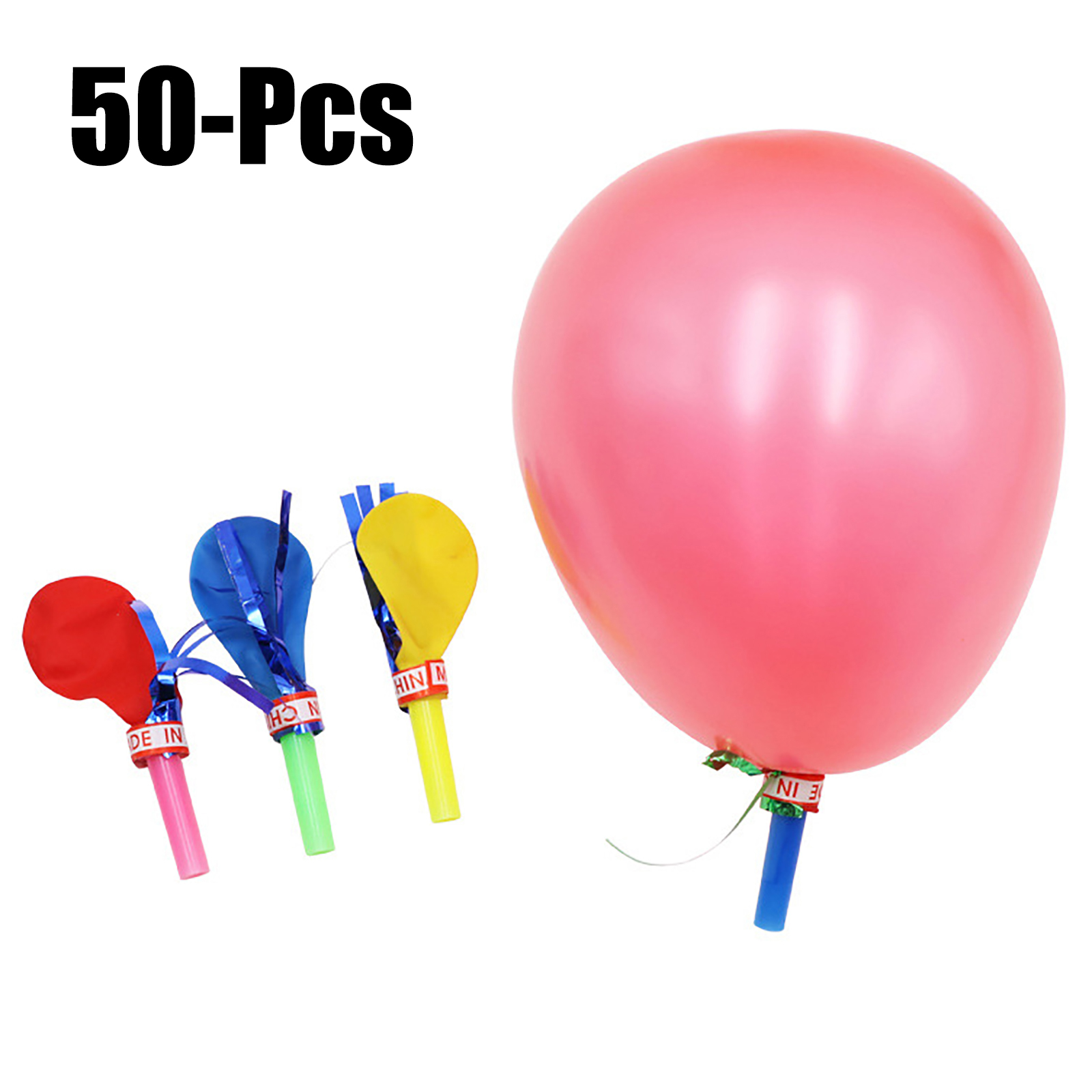 Balloon Whistle Party Balloons With Blowers Birthday Wedding Party Xmas Kids Fun Balloon Blowers Atmosphere Prop Noise Maker Toy Big Clearance Sale Festive & Party Supplies Event & Party