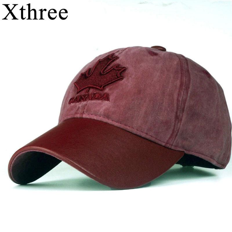 Las mujeres Xthree gorra de béisbol Canadá bordado letra snapback sombrero  para hombres casquette gorras b82e6b4d37e