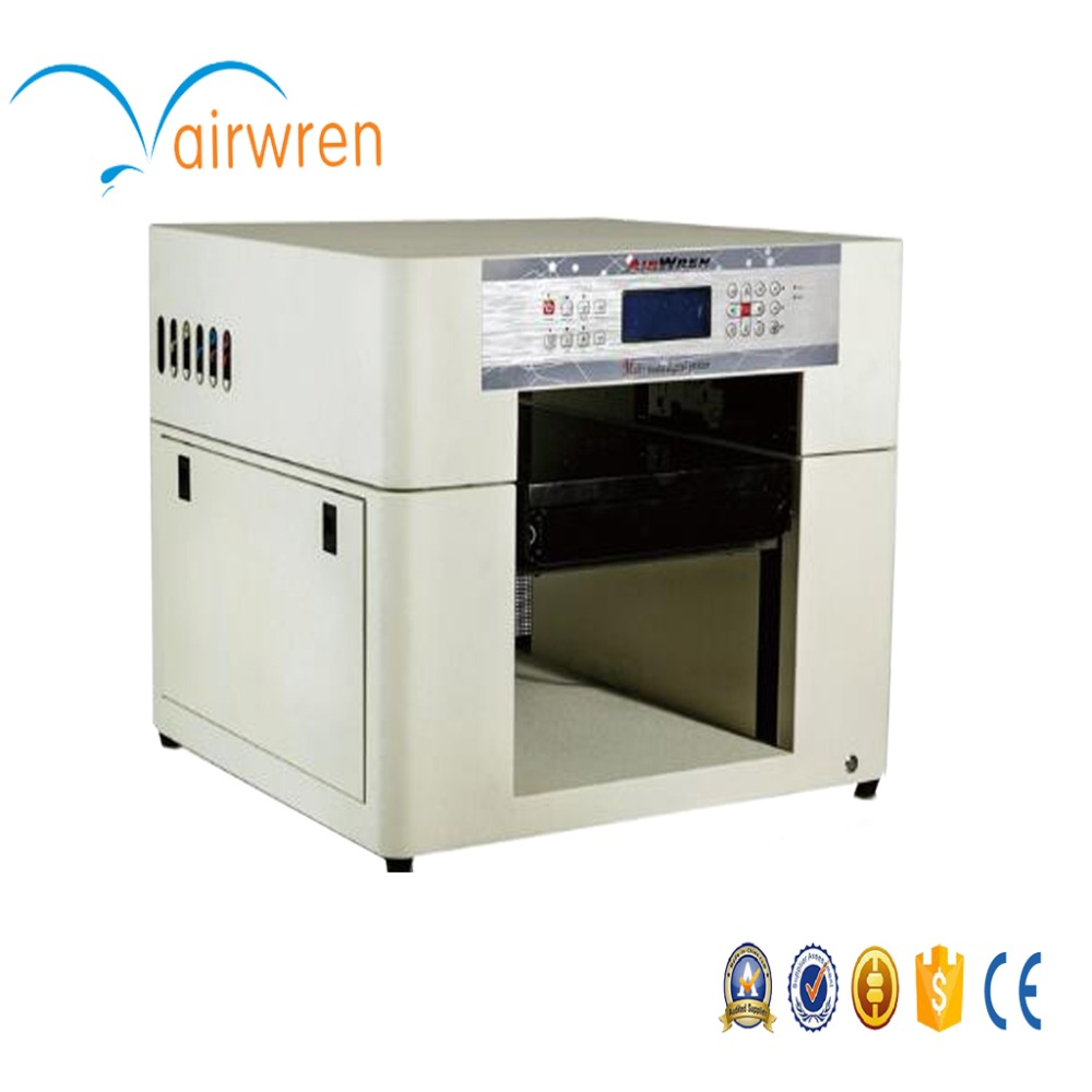 Digital uv printer a3 machine for printing on sheet metal with 6 colors added height to 200mm