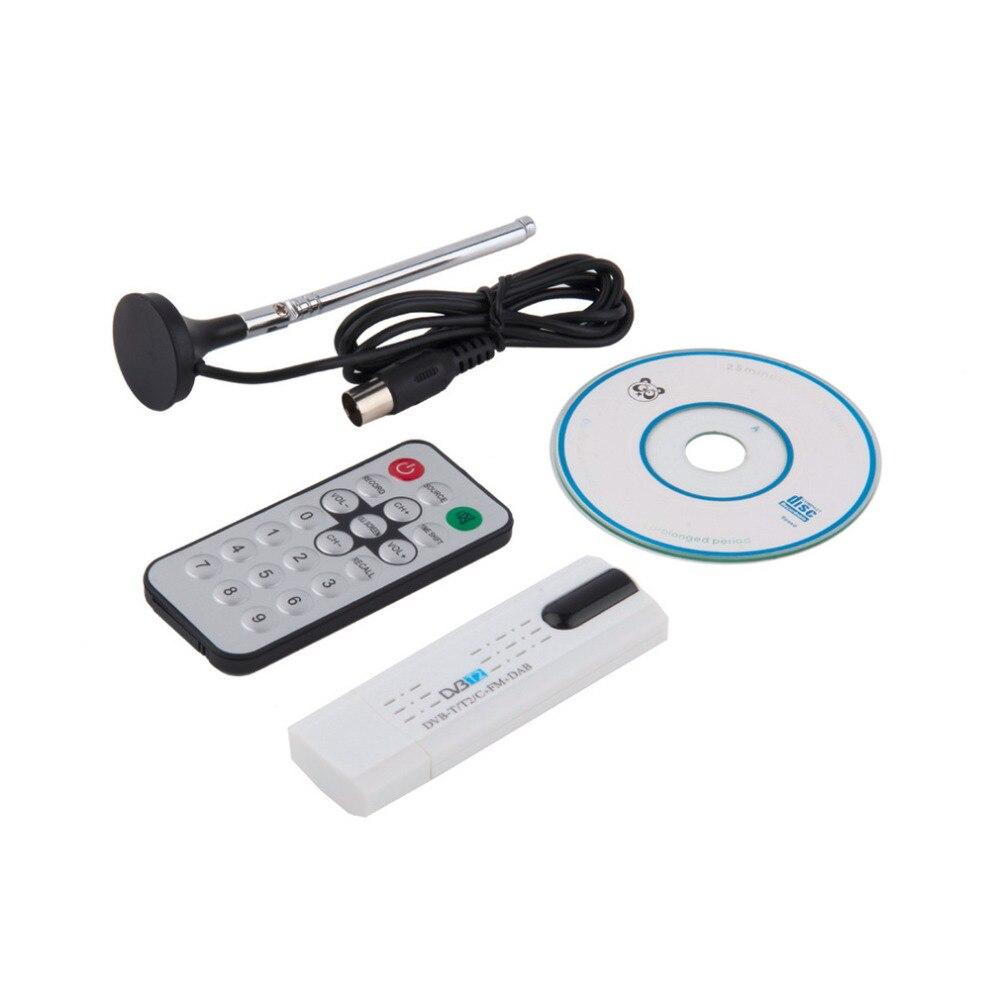 Digital DVB-T2/T DVB-C USB 2.0 TV Tuner Stick HDTV Receiver with Antenna Remote Control HD USB Dongle PC/Laptop for Windows tv0668 digital dvb t tv receiver usb dongle w remote control antenna fm radio black