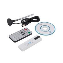 Цифровой DVB-T2/T DVB-C USB 2.0 TV Stick Тюнер HDTV Приемник с Антенной Дистанционного Управления HD USB Dongle ПК/ноутбук для Windows