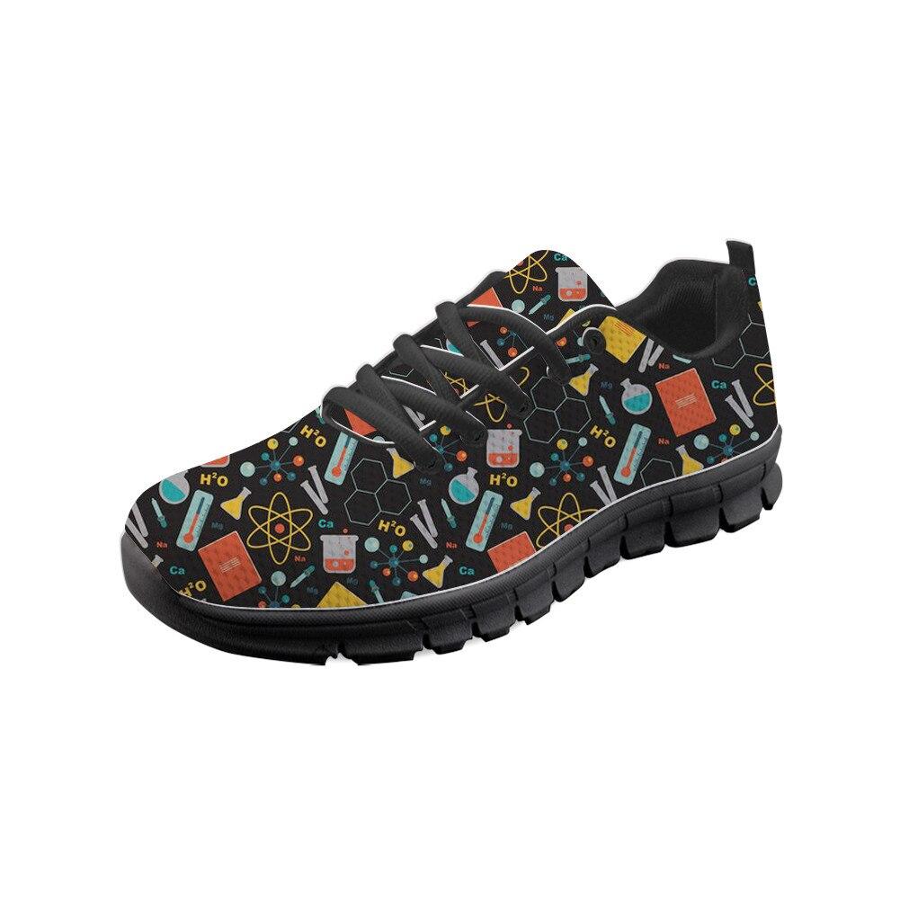 Fournitures scolaires chimie femmes appartements Super léger voyage chaussures automne étudiants à l'extérieur noir Sneaker semelles noires enseignant cadeau