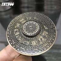 YNYNOO Newest Creative UFO Fidget Spinner Hand Twelve Constellations Spinner EDC Sensory Alloy Toy Anxiety Stress