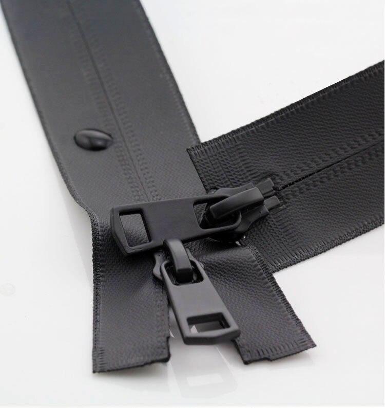 20/60/65/70/75/80/90/100/120/150 cm 5 # double ouvert noir et blanc nylon invisible zip étanche pour doudounes en plein air vestes