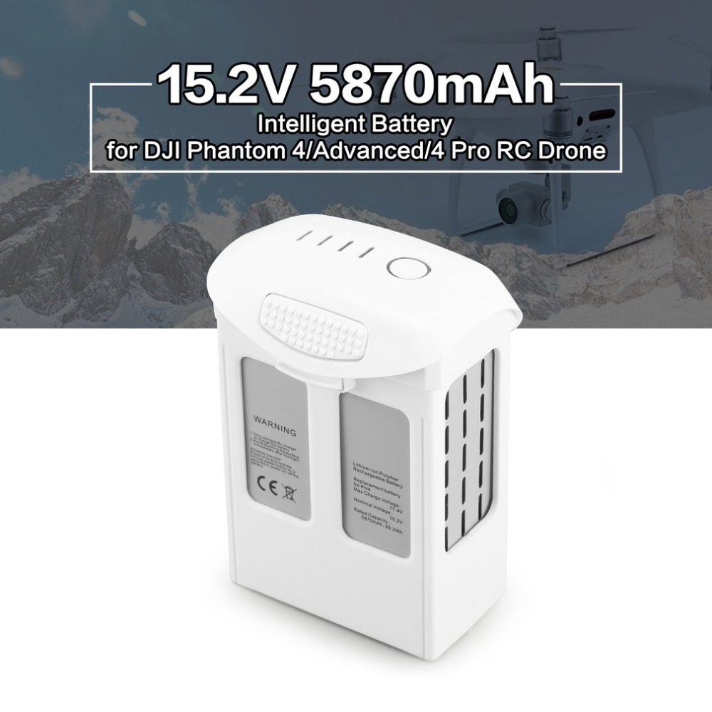 15.2V 5870mAh Intelligent Spare Flight LiPo Battery Replacement Part for DJI Phantom 4 /Advanced/4Pro  Quadcopter RC Drone15.2V 5870mAh Intelligent Spare Flight LiPo Battery Replacement Part for DJI Phantom 4 /Advanced/4Pro  Quadcopter RC Drone