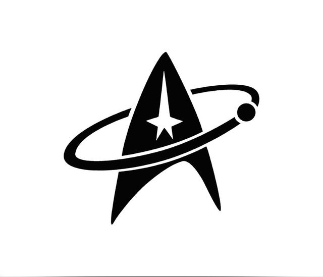 star trek logo car sticker for truck window bumper auto suv door