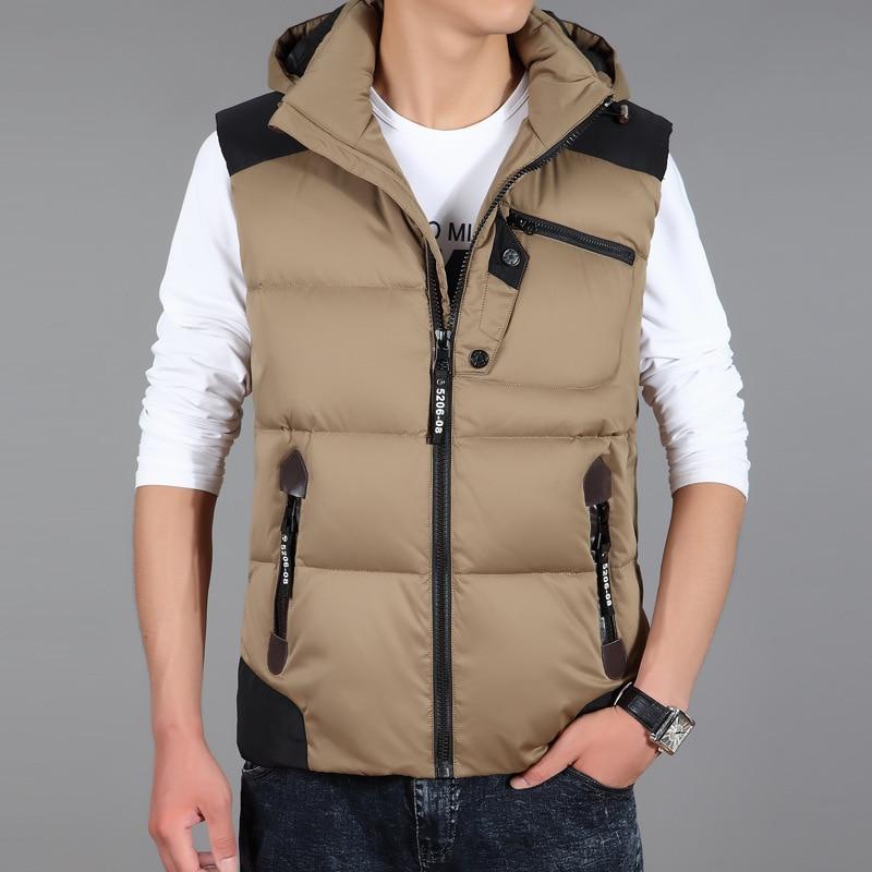 Men's Sleeveless Vests Jackets 2017 New Winter Men Duck ...