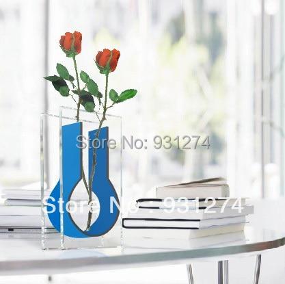 Desktop Acrylic Flower Plants Holder Vaseperspex Home Decorations