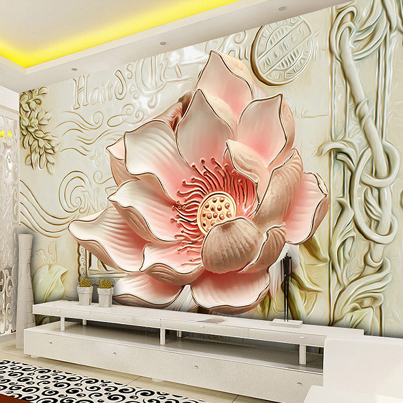 Custom 3D Stereo Relief Flowers Mural Photo Wallpaper Bedroom Living Room TV Sofa Backdrop Wall Mural Home Decor 3D Panel Wall custom mural wallpaper european style 3d stereoscopic new york city bedroom living room tv backdrop photo wallpaper home decor