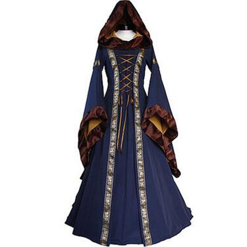 U-SWEAR gothique Halloween robe de bal robe médiévale Robes Vintage Cosplay Renaissance victorienne élégante fête longue Maxi Robes