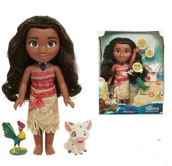 417cf5e8de7a Boneca Vaiana Moana modelo princesa collar música canto muñeca Cosplay  figura de acción modelo de princesa de dibujos animados de juguete de  regalo de los ...