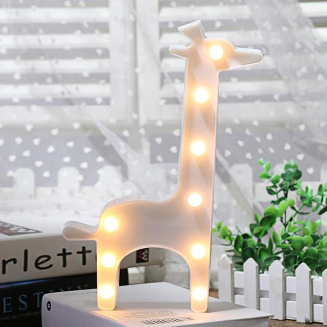 Online Led Night Light Lamp Lighting Wall Child Giraffe Shape String Lights Christmas Tree Decoration Home Party Aliexpress Mobile