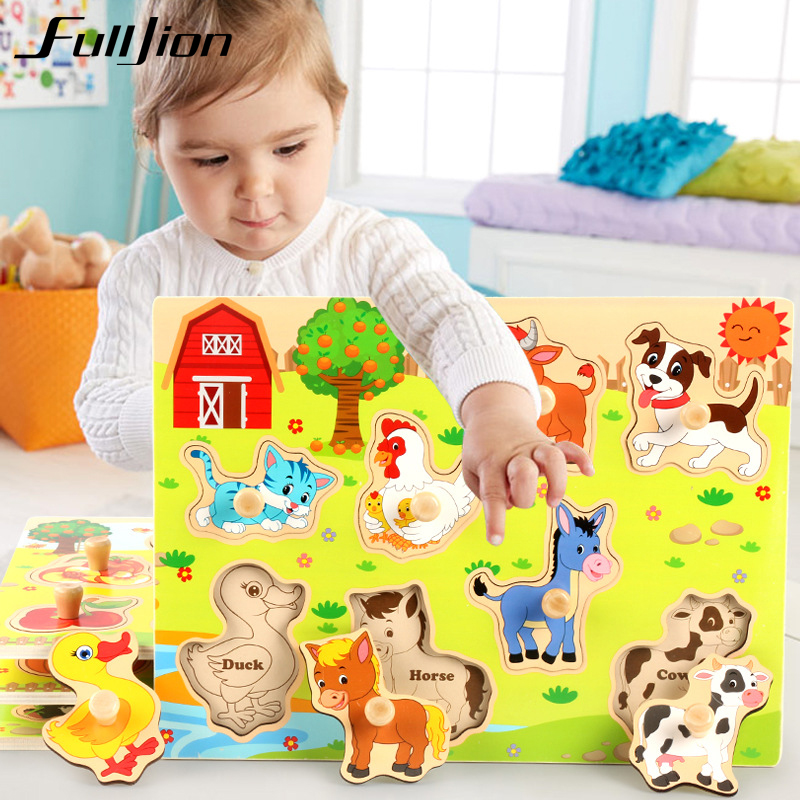 Fulljion Wooden Toys Montessori Children Toys Education Games Maze Magnetic Puzzle 3d Model Popular Jigsaw Teaser Learning Gifts montessori education wood blowers traditional blowing games interactive games children early education puzzle toys