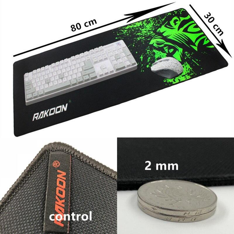 Большой игровой коврик для мыши с зеленым принтом, Противоскользящий коврик для мыши из натурального каучука, коврик для клавиатуры, Настольный коврик для ноутбука, компьютера, геймера, коврик для мыши - Цвет: control30x80cm