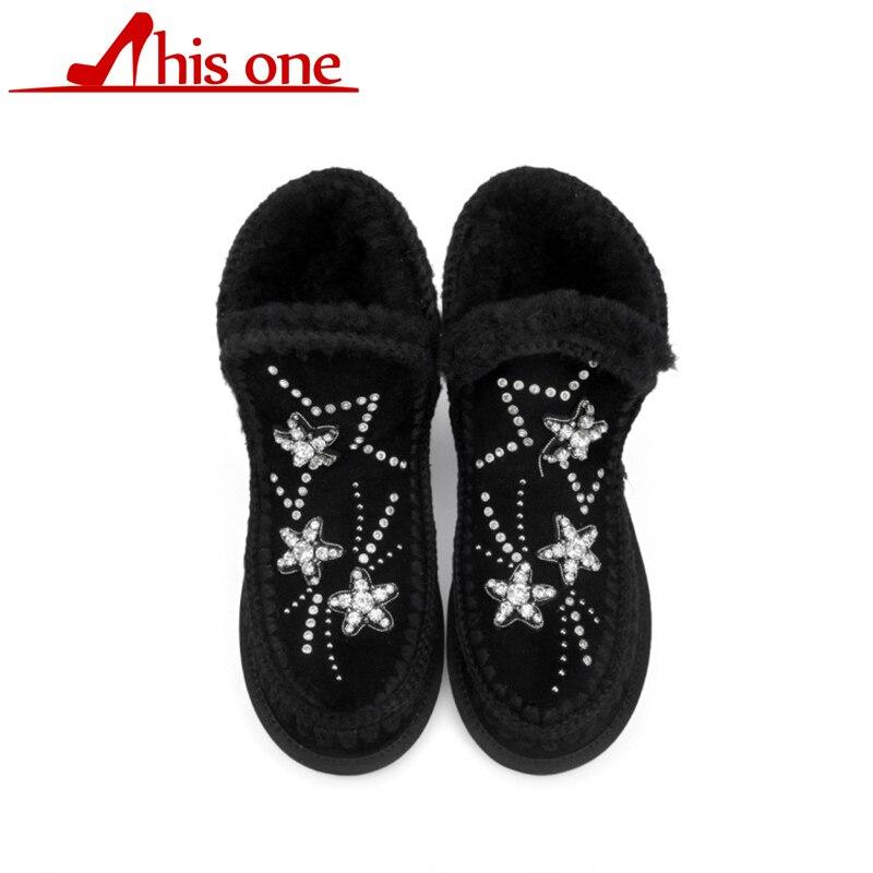 Celui-ci bottes de neige 2018 talons classiques en daim femmes bottes d'hiver semelle intérieure chaude bottines femmes chaussures femme